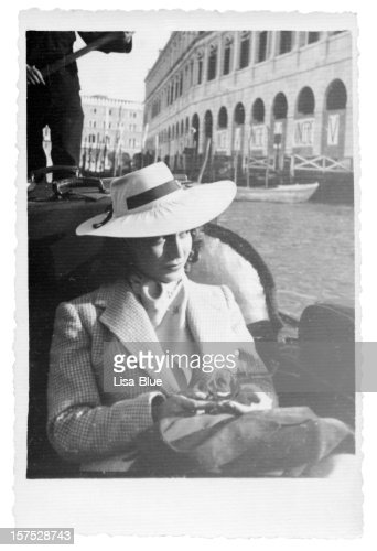 Young Woman in Gondola,Venice,1935,Black And White