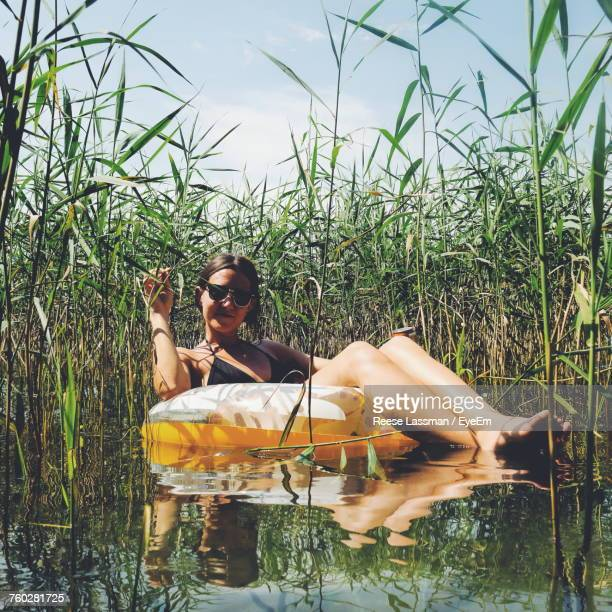 Young Woman In Lake