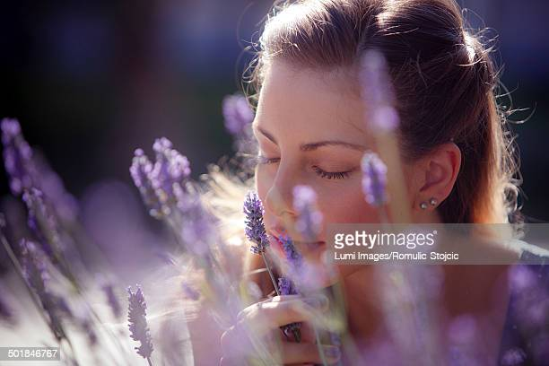 Young Woman In Lavender Field, Portrait, Island Hvar, Croatia, Europe