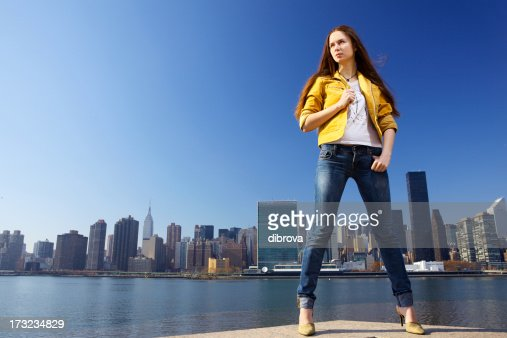 Young woman in New York