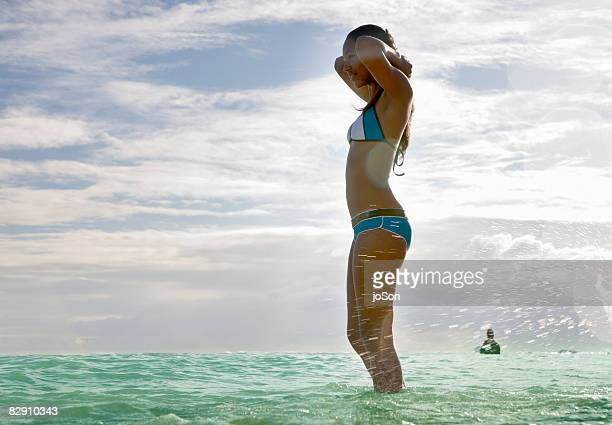 Young woman in Ocean