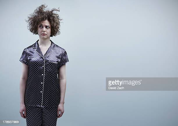 Young woman in pajamas, portrait