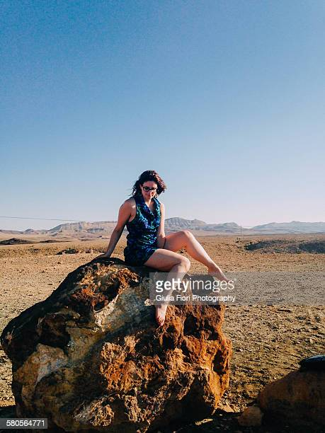 Young woman in the Negev Desert