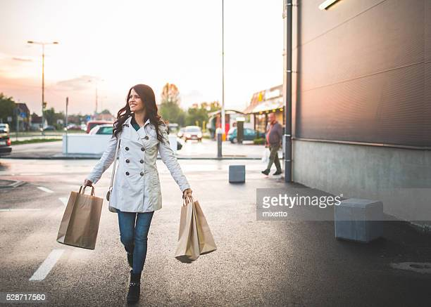 Young woman in the shopping