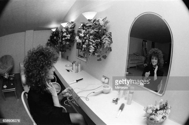 A young woman in the toilets at The Mall nightclub in Stockton 15th December 1988