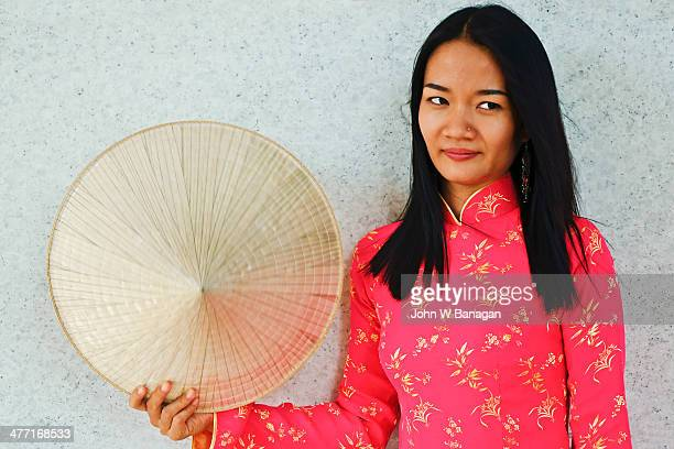 Young woman in traditional dress