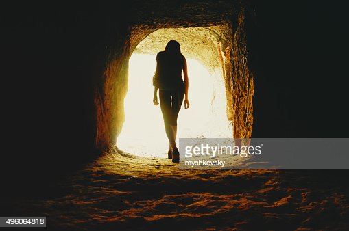Young woman in Vardzia cave.