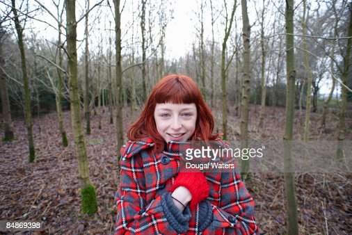 Young woman in winter clothes. : Stock Photo