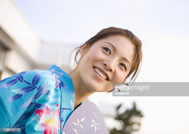 Young woman in yukata
