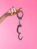 Young woman into bondage