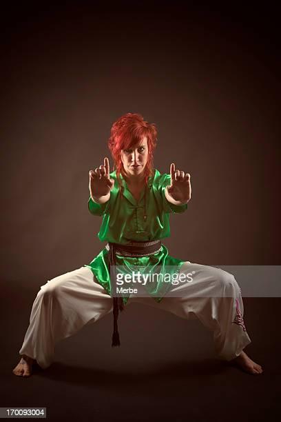 Jeune femme Kung-fu