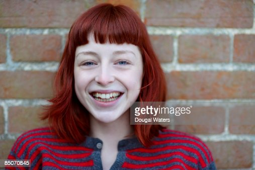 Young woman laughing. : Stock Photo