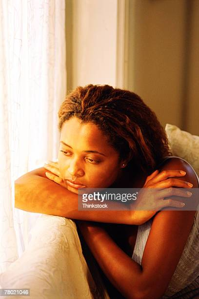 Young woman looking depressed