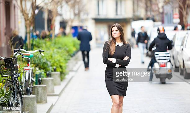 Young Woman Looking For Attractive Shops To Visit