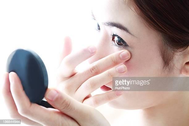 young woman make-up
