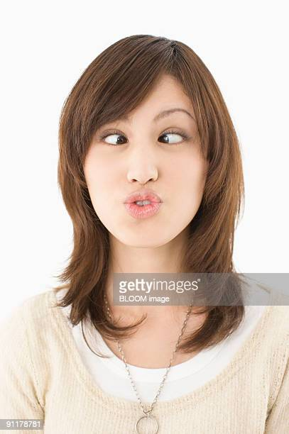 Young woman making funny face
