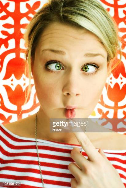 Young Woman Making Silly Face