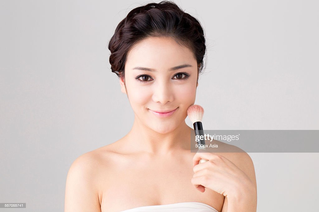 Young Woman Making Up : Stock Photo