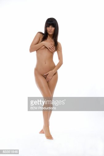 Young woman naked : Stock Photo