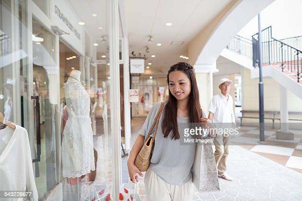Young woman on a shopping trip.