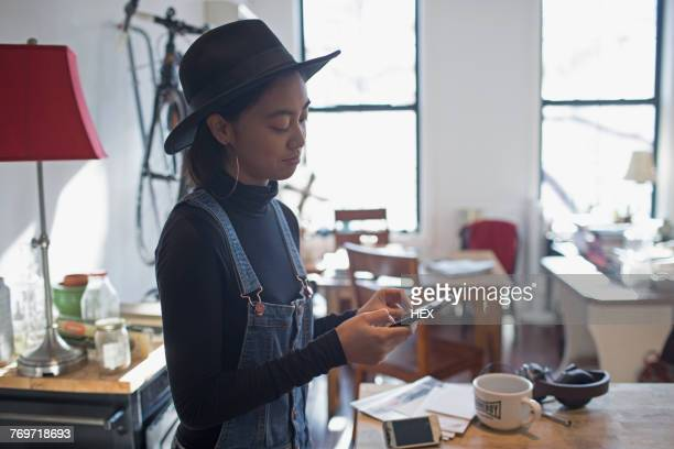 A young woman on a smart phone
