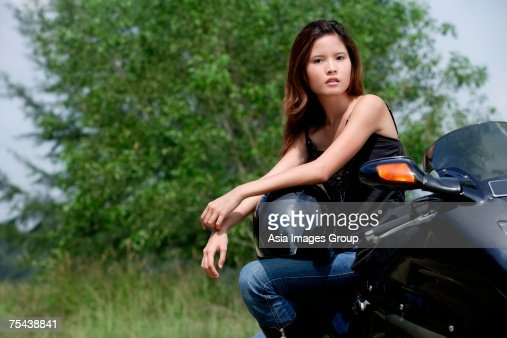 Stylish young biker — Stock Photo © Anna_Om #75787727