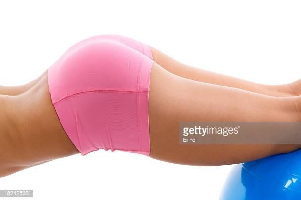 Young woman on stability ball