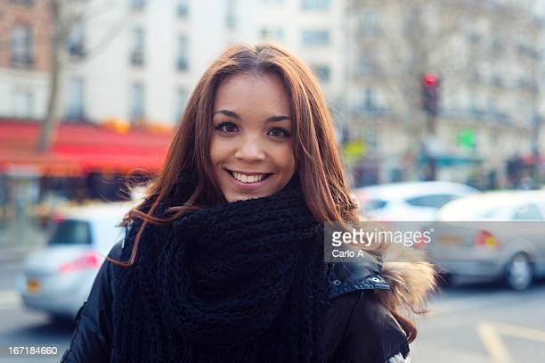 Young woman on streets