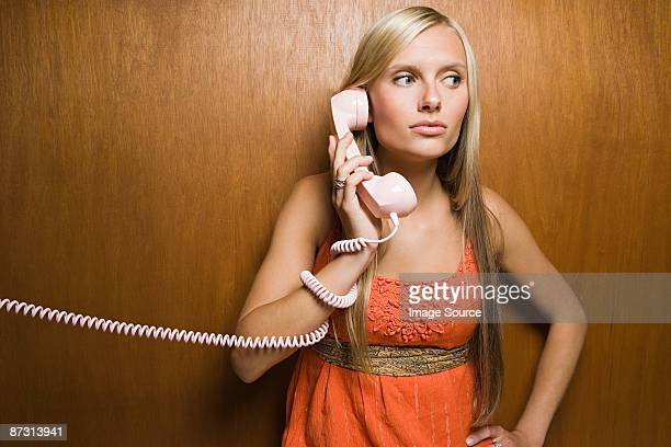 Young woman on telephone