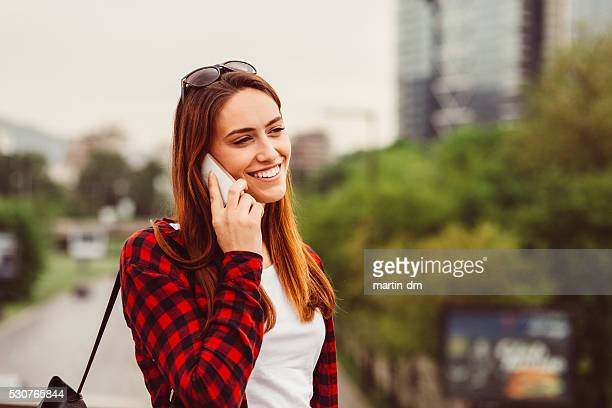 Young woman on the phone
