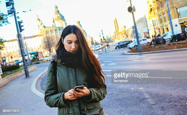 Young woman on the streets of Budapest