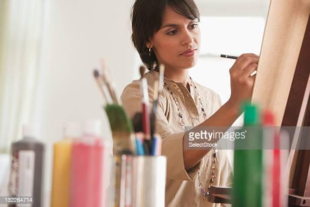 Giovane donna Dipinto a cavalletto