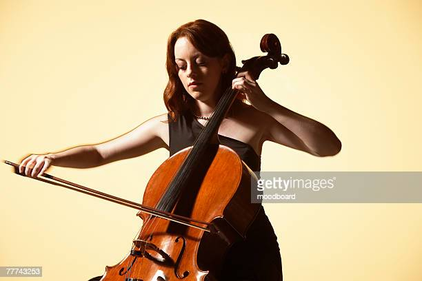 Young Woman Playing Cello