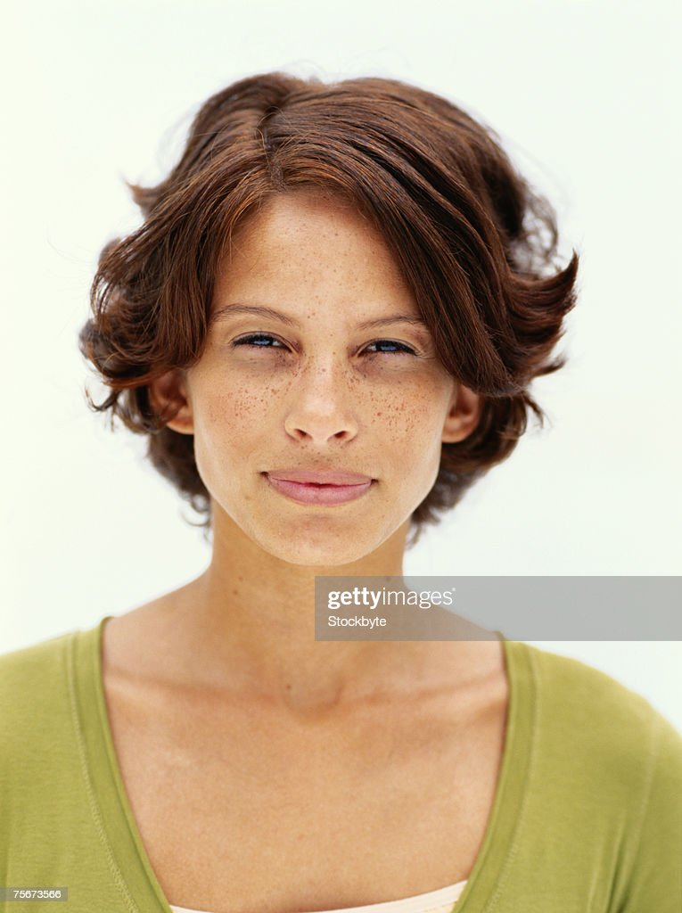 Young woman, portrait , close-up : Stock Photo