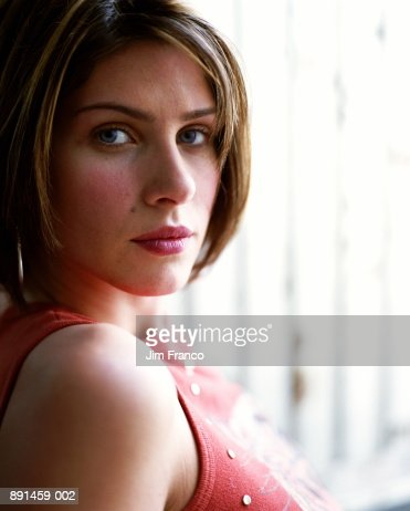 Young woman, portrait, close-up : Stock Photo