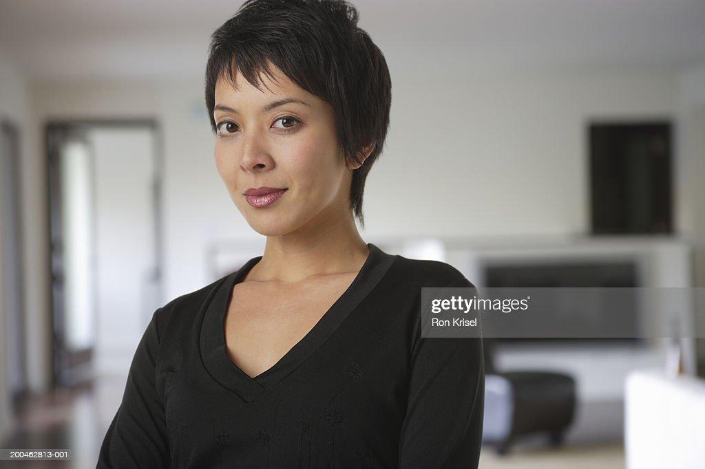 Young woman, portrait (digital composite) : Stock Photo