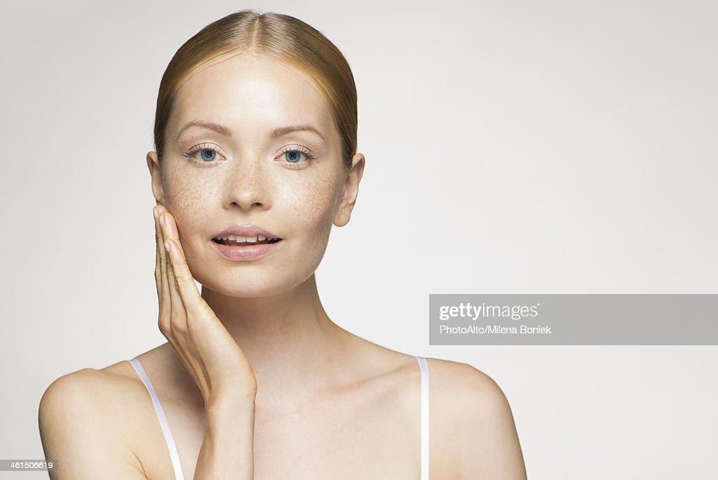 Young woman, portrait : ストックフォト