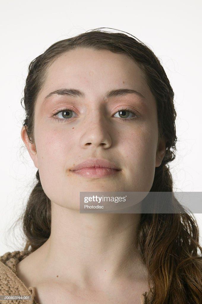 Young woman posing, portrait, portrait : Stock Photo