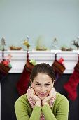 Young woman prepared for Christmas