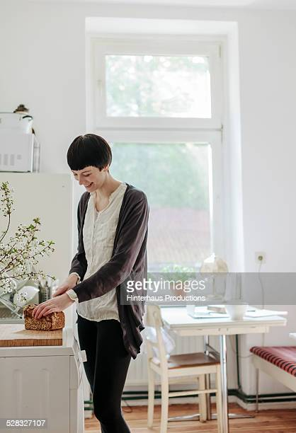 Young Woman Preparing Breakfast