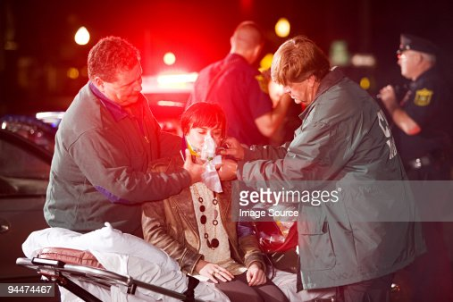 Young woman receiving medical treatment
