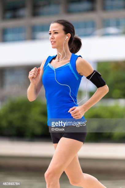 Junge Frau Laufen Joggen