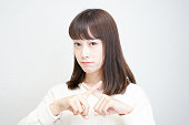 Young woman saying no