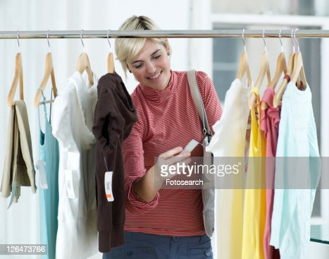 Young Woman Shopping Clothes