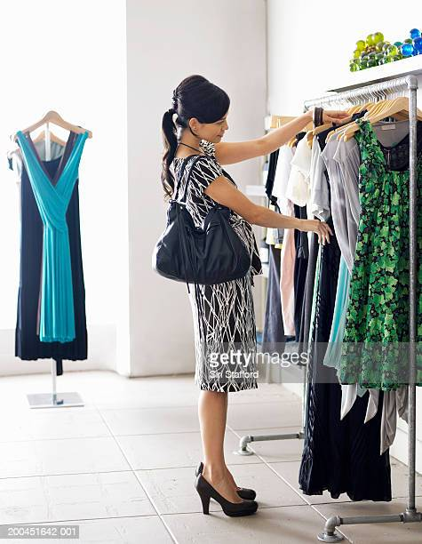 Young woman shopping in boutique