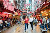 Young Woman Shopping in Hong Kong
