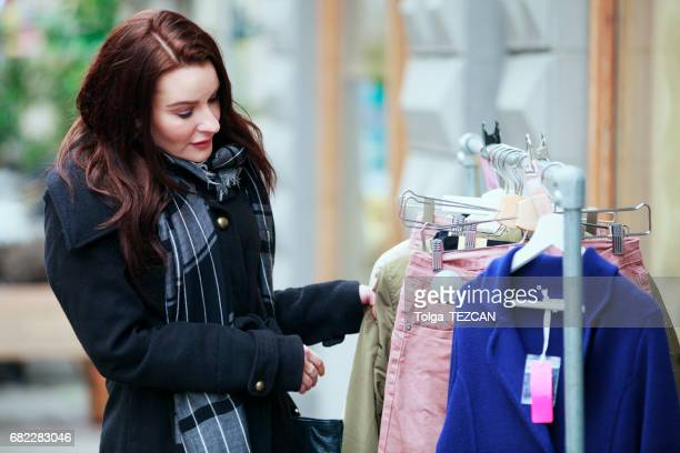 Young woman shopping in Malmo