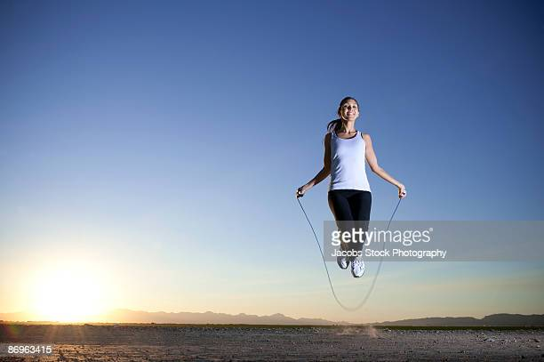 Young Woman Skipping