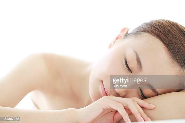 young woman sleeping beauty