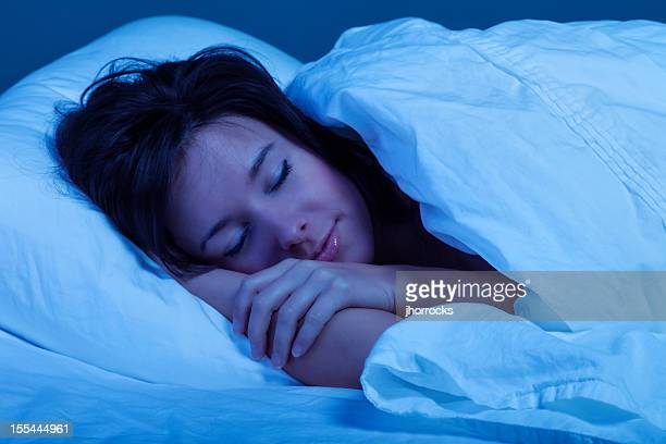 Young Woman Sleeping Blissfully